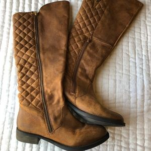 Steve Madden Quilted Riding Boots.